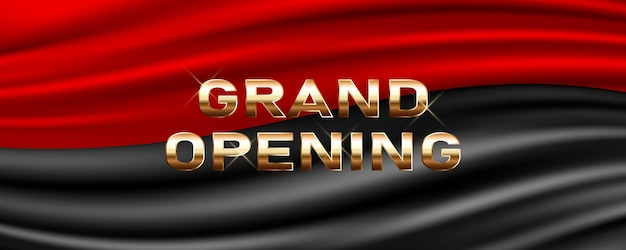 Grand opening. template festive design element for opening ceremony can be used as background