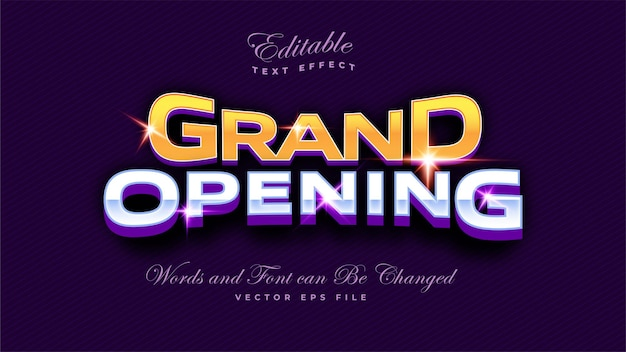 Grand opening text effect
