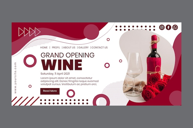 Grand opening wine festival landing page
