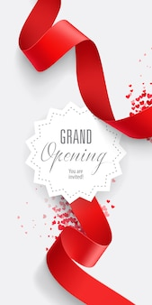 Grand opening you are invited lettering