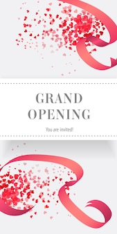 Grand opening you are invited vertical banner
