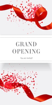 Grand opening, you are invited vertical banner