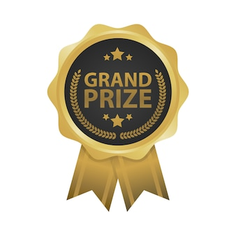Grand prize win gold badges