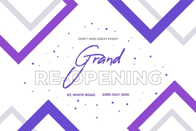 Grand re-opening background concept
