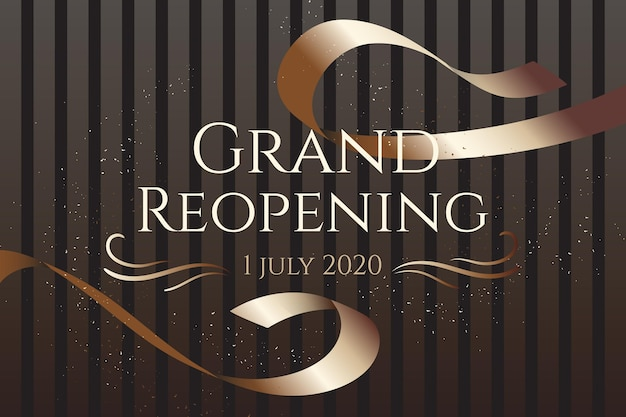 Grand re-opening background design