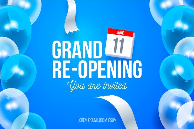 Grand re-opening background you are invited