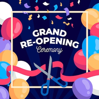 Grand re-opening background