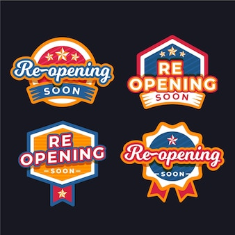 Grand re-opening badge pack