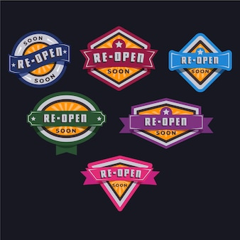 Grand re-opening badge set
