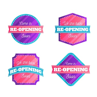 Grand re-opening badges design