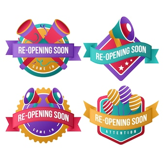 Grand re-opening badges theme