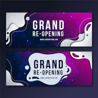 Grand re-opening banner collection