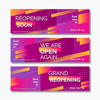 Grand re-opening banner template