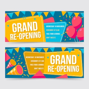 Grand re-opening banner