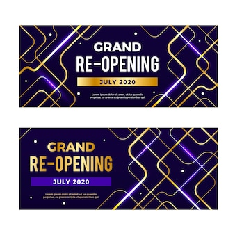 Grand re-opening banners