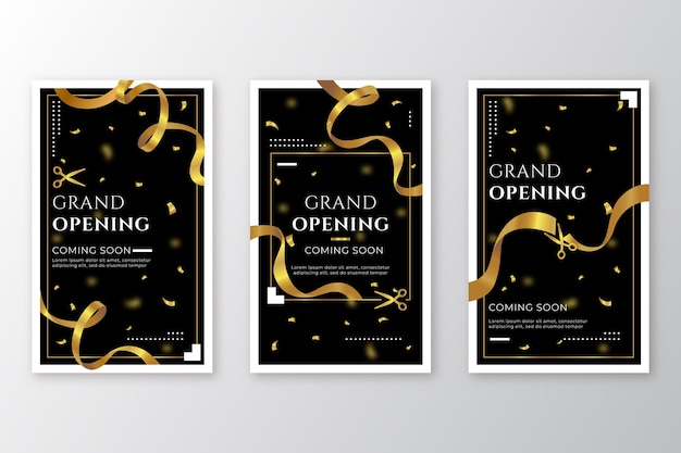 Grand re-opening instagram stories theme