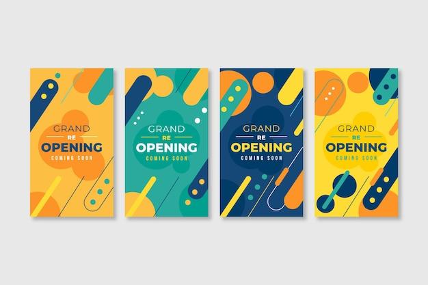 Grand re-opening instagram stories