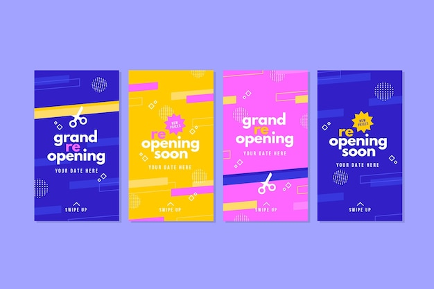 Grand re-opening instagram stories