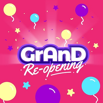 Grand re-opening soon background theme