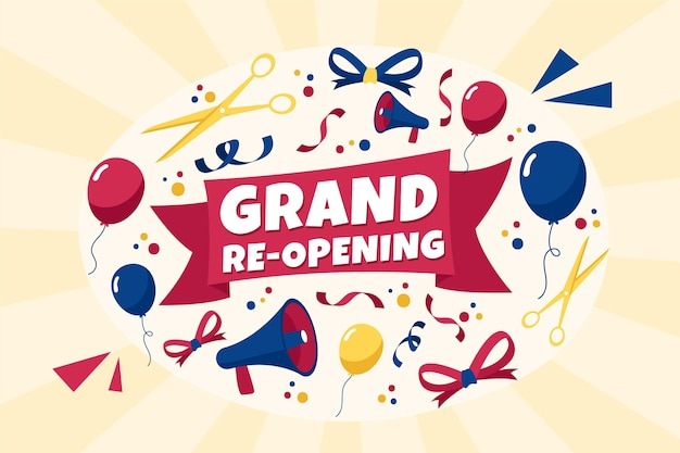 Grand re-opening soon background