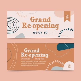 Grand re-opening soon banner template