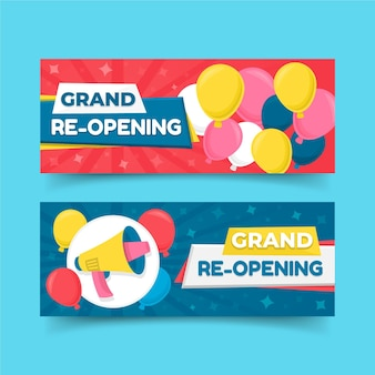 Grand re-opening soon banner