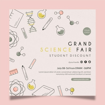 Grand science fair square flyer