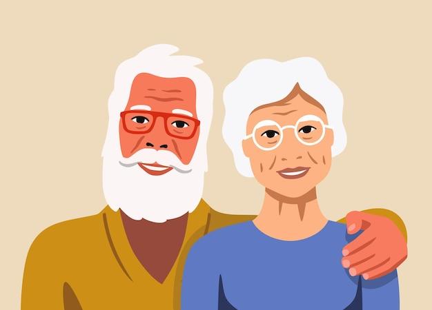 Дедушка и бабушка вместе. пенсионерская любовь