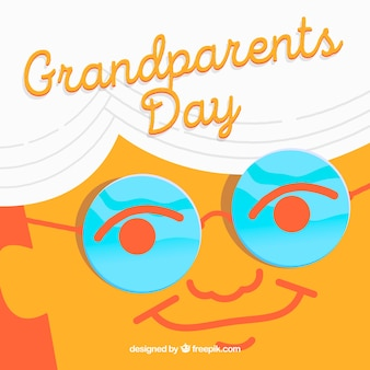 Grandfather face background with glasses
