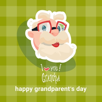Grandfather happy grandparents day greeting card