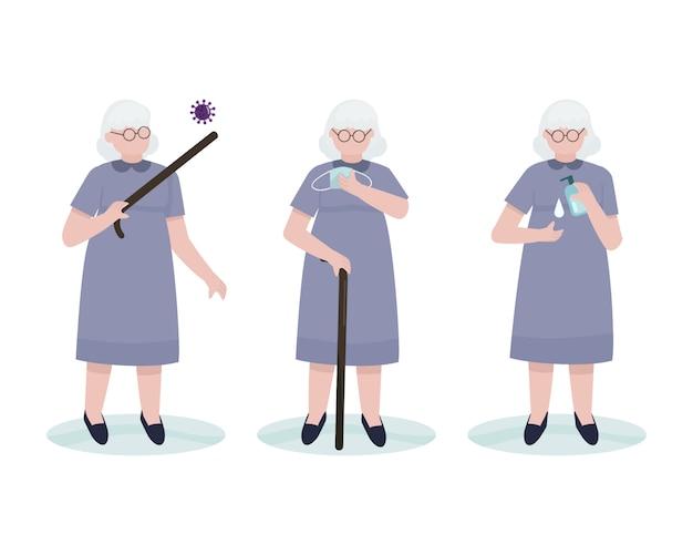 おばあちゃんキャラクターコレクションセット