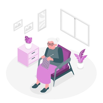 Grandma concept illustration