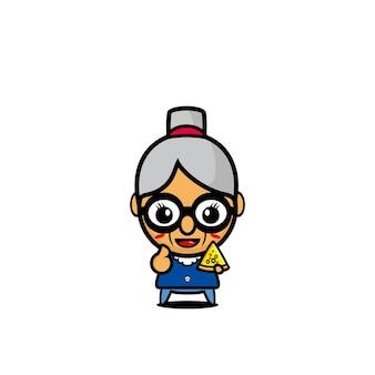Бабушка милый дизайн искусство мультипликационный персонаж концепт арт