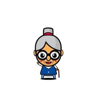 Grandma cute design art cartoon character vector design