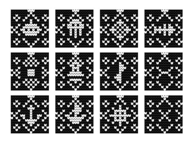 Grandma knitting pattern set for ugly sweater