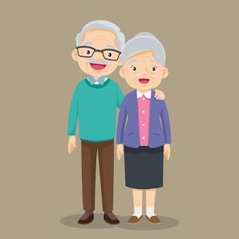 祖母と祖父が一緒に