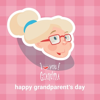 Grandmother happy grandparents day greeting card
