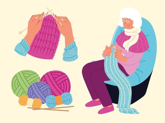 Grandmother knits set
