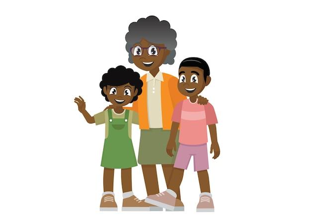 孫世代と家族関係を持つ祖母