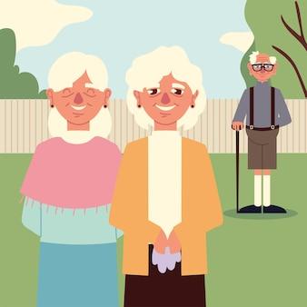 Grandmothers and grandpa
