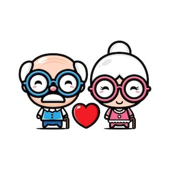 Дедушка и бабушка любят друг друга