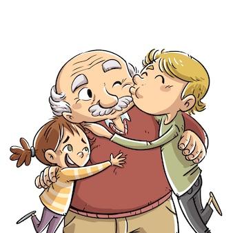 祖父母の日 Premiumベクター