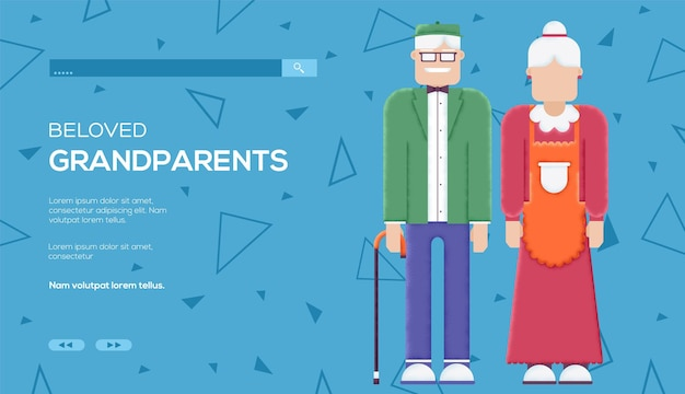 祖父母のコンセプト web テンプレート。