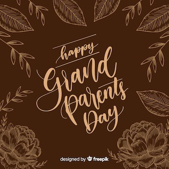 Grandparents' day composition with elegant lettering