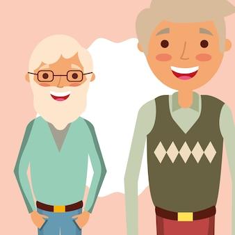조부모의 날 할아버지 웃는 그림