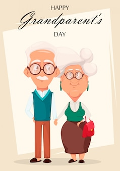 Grandparents day greeting card.