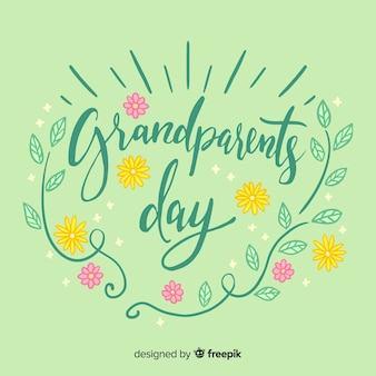 Grandparents day lettering background