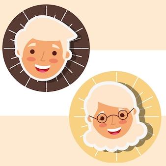 Люди бабушки и дедушки
