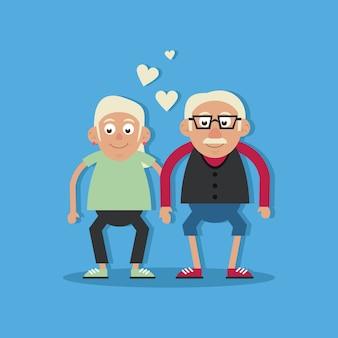 조부모 사랑과 손을 잡고