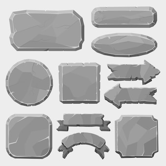 Granite rocks button illustration